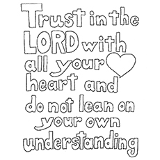the faith and trust - Coloring Pages Bible