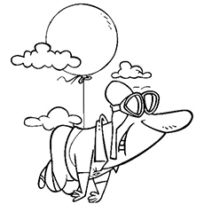 float with balloon coloring pages