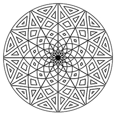flower circle shape coloring pages - Geometric Coloring Pages