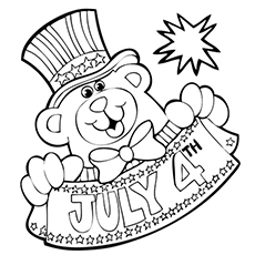 Fourth Of July Is A Holiday Picture To Color