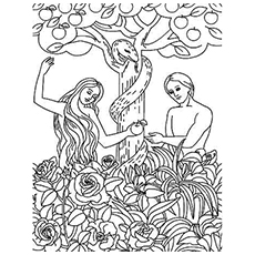 garden of eden coloring pages Top 25 FreePrintable Adam And Eve Coloring Pages Online garden of eden coloring pages