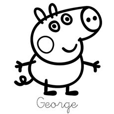 Peppa Pig Family Coloring Pages George Georgie Reference By His Mother Printables