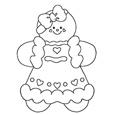 gingerbread girl coloring page on gingerbread images free
