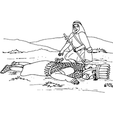 David Killed Goliath Coloring Pages