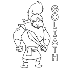 Goliath Coloring Pages
