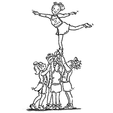 25 Beautiful Free Printable Cheerleading Coloring Pages Online