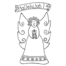Hallelujah Coloring Image to Print
