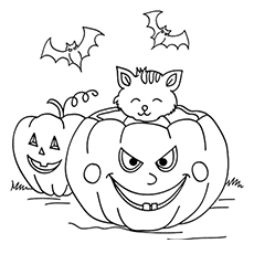 halloween day coloring page to print - Holiday Coloring Pictures To Print