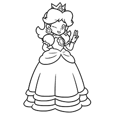 25 best princess peach coloring pages for your little girl - Baby Princess Peach Coloring Pages