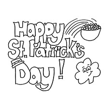 the happy st patricks day - St Patricks Day Coloring Pages