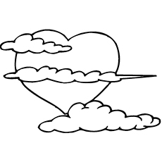 Cloud Coloring Pages Free Printables MomJunction