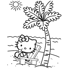 the helo kity - Kitten Coloring Pages Free Printable