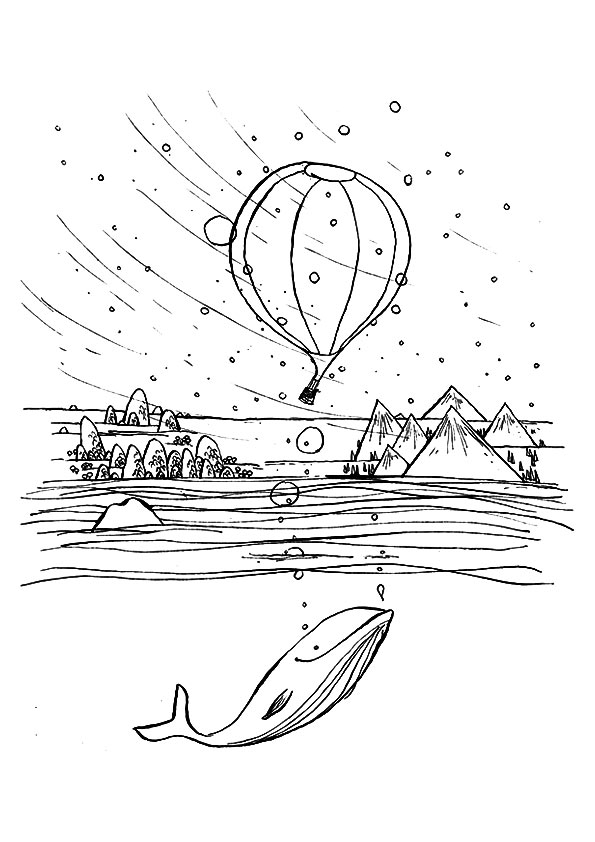 The-hot-air-balloon-on-a-windy-day