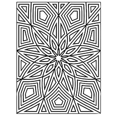 intricate flower print coloring pages - Geometric Coloring Pages