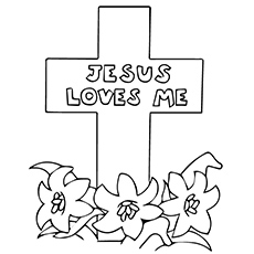 Coloring Pages Of Jesus Loves Me
