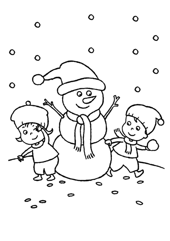The-kids-playing-with-snowman