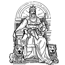 The King Saul Coloring Pages
