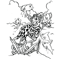 the leopard hunter lisa frank kids colouring pages - Lisa Frank Coloring Pages
