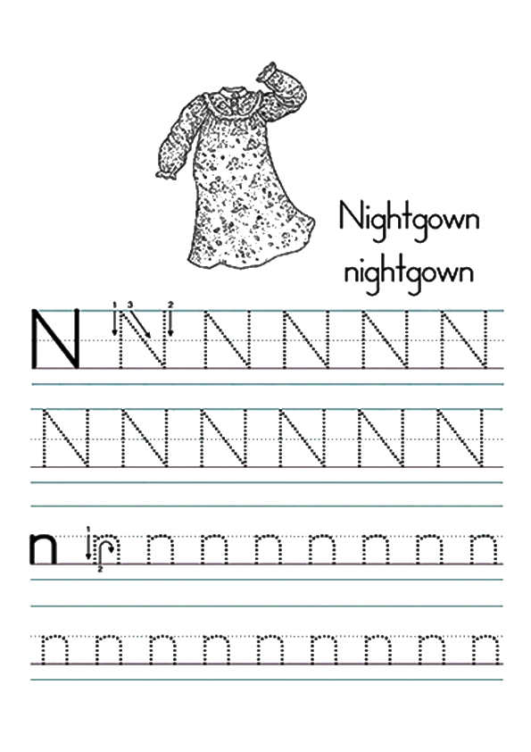 The-letter-n-worksheet