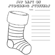 Top 25 Free Printable Christmas Stocking Coloring Pages Online - plain stocking coloring pages