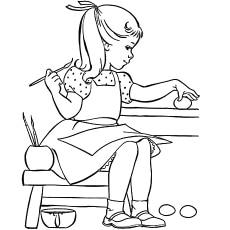 The-little-girl-painting-egg