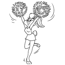 cheerleading coloring pages for grils-#18