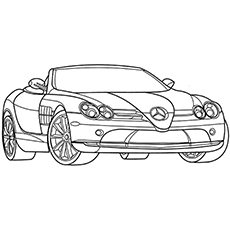 mercedes - Racecar Coloring Pages
