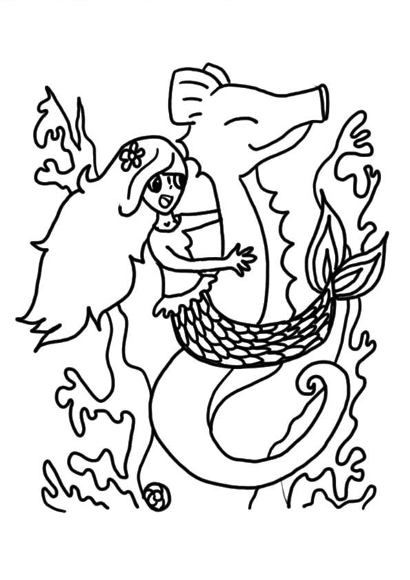The-mermaid-on-seahorse