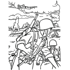 the military helicopter - Military Coloring Pages Printable