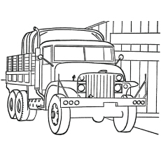 the military truck coloring page - Military Coloring Pages Printable