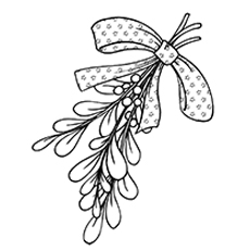 mistletoe coloring pages - Mistletoe Coloring Pages