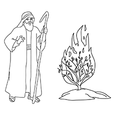 The-moses-and-the-burning-busb-16 coloring pages