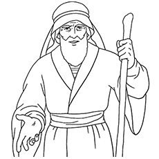 The Moses Coloring Page