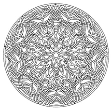 Intricate Flower Print Coloring Pages The Multiple Swirl