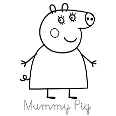 free printables mummy pig coloring pages