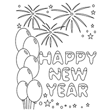 New Year is a Holiday Printable to Color