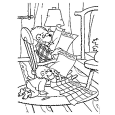 top 25 free printable berenstain bears coloring pages online. Black Bedroom Furniture Sets. Home Design Ideas