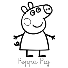 photograph relating to Peppa Pig Character Free Printable Images named Supreme 35 Totally free Printable Peppa Pig Coloring Web pages On the internet