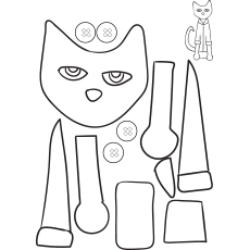 Pete the Cat Craftivity to Color