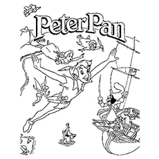 coloring pages of peter pan cast movie poster - Peter Pan Mermaids Coloring Pages