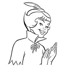 Peter Pan Clapping Coloring Sheet