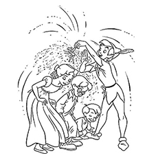 peter pan sprinkles pixie dust coloring pages