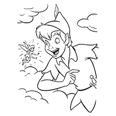Coloring pages of peter pan with tinkerbell