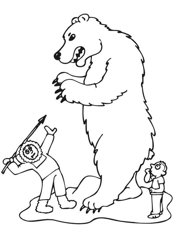 The-polar-bear-being-hunted