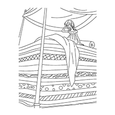 Princess And The Pea Story Coloring Pages Colors