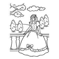 free printable princess in her castles coloring pages - Coloring Pages Princess
