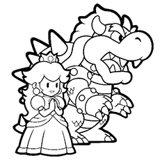 the princess peach the princess peach and dragon