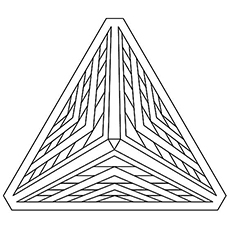 Beautiful Pyramid Geometric Shape Coloring Pages