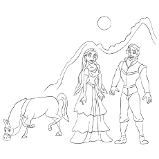 The Rapunzel Flynn maximus And Pascal coloring pages
