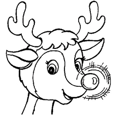 20 Best Rudolph 'The Red Nosed Reindeer' Coloring Pages for Your ...